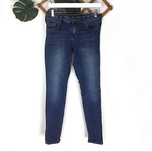 KFTH |Toothpick Skinny Blue Denim Jeans Size 8